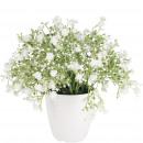 wholesale Artificial Flowers: Gypsophila Nellina potted, D20cm, H20cm, white